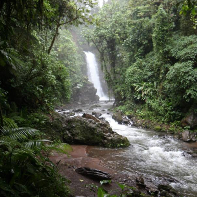 La Paz waterfalls in Costa Rica