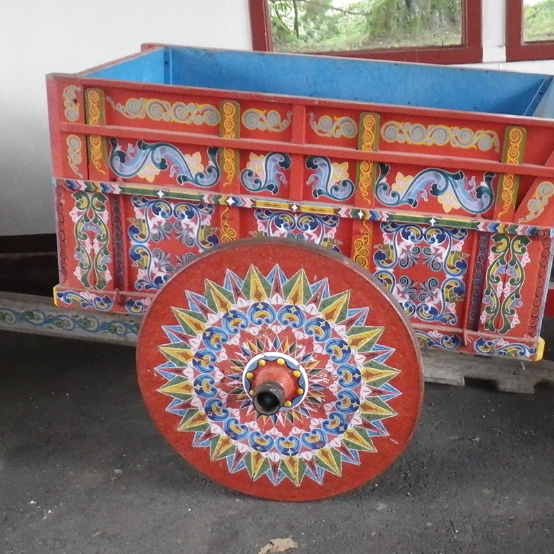 Ox cart in Costa Rica.