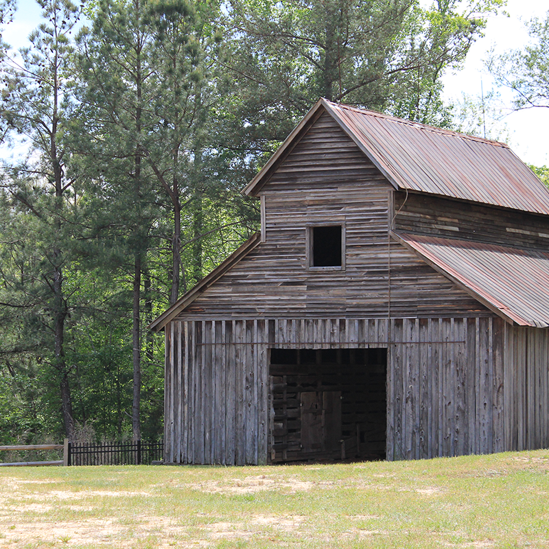 Historic barn, Gwinnett County, Georgia.